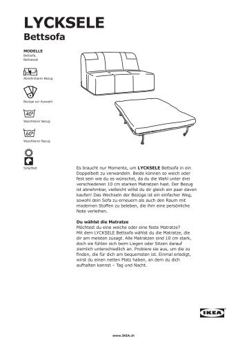 Bettsofa ikea lycksele  Bettsofa Magazine