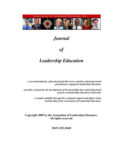 Journal of Leadership Education - Fort Hays State University