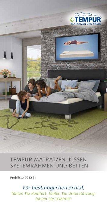 tempur matratzen kissen systemrahmen und betten enity. Black Bedroom Furniture Sets. Home Design Ideas