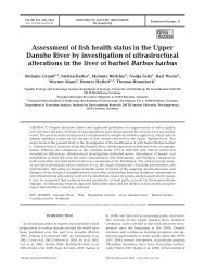 Assessment of fish health status in the Upper ... - Inter Research