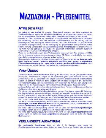 MAZDAZNAN -PFLEGEMITTEL
