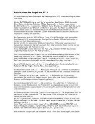 Bericht über das Angeljahr 2011 - Browning Team Austria
