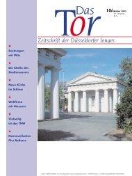 TorDas Zeitschrift der Düsseldorfer Jonges 10/Oktober 2003