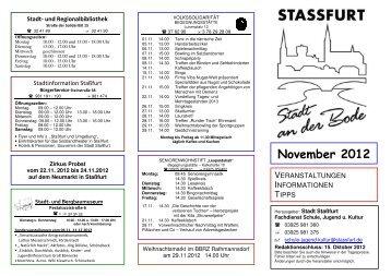 November 2012 - Stadt Staßfurt