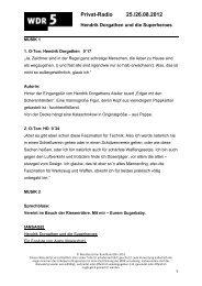 Manuskript (pdf) - WDR 5