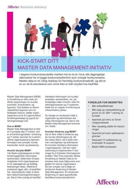 8e567a71 KICK-START DITT MASTER DATA MANAGEMENT-INITIATIV - Affecto