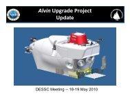 Alvin Upgrade Project - UNOLS!