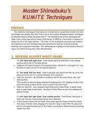 Master Shimabuku's KUMITE Techniques PREFACE - Bcibb.org