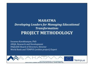 PROJECT METHODOLOGY - Tempus