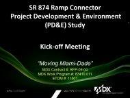 SR 874 Ramp Connector Project Development & Environment ...