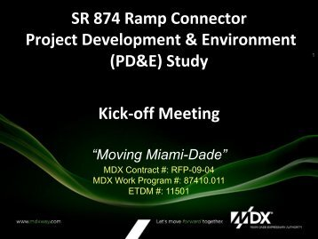 SR 874 Ramp Connector Project Development & Environment ...
