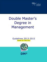 Double Master's Degree in Management International - Rotterdam ...
