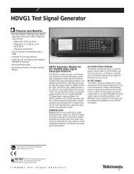 HDVG1 Test Signal Generator - TekNet Electronics