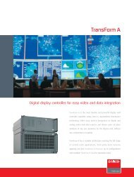 Barco Transform A Series Brochure - Spectrum Audio Visual