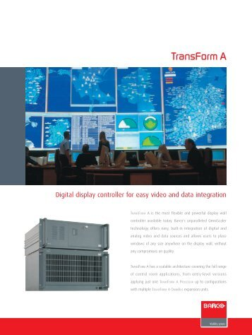 Barco Transform A Series Brochure - Spectrum Audio Visual