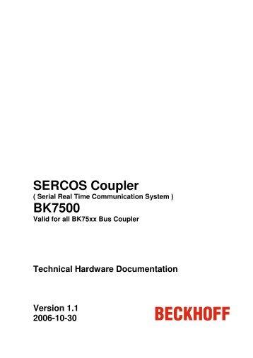 SERCOS Coupler BK7500 - download - Beckhoff