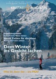 Dem Winter ins Gesicht lachen - Kristall-Apotheke