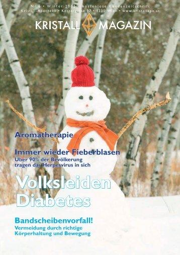 Volksleiden Diabetes Volksleiden Diabetes - Kristall-Apotheke