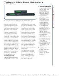 Tektronix Video Signal Generators - Test Equipment Depot