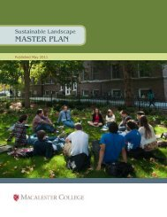 Sustainable Landscape MASTER PLAN - Macalester College