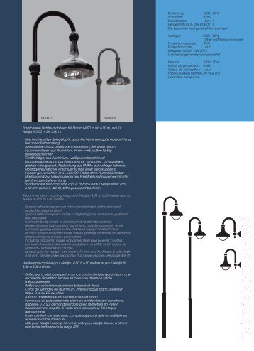 230V 50Hz Schutzart - Leipziger Leuchten