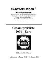 CHAMPEX-LINDEN ® Gesamtpreisliste 2001 - Euro