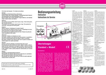 Bedienungsanleitung Instruction Instructions de ... - G Scale News