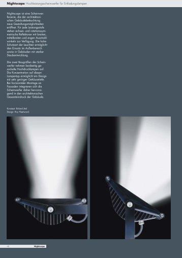 Nightscape Hochleistungsscheinwerfer für Entladungslampen