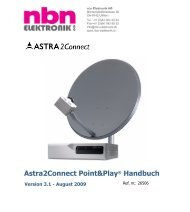 Astra2Connect Point&Play® Handbuch - nbn Elektronik AG