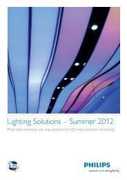 Lighting Solutions – Summer 2012 - Philips Lighting