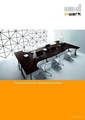 Team-Schreibtische Winkelkombinationen - INWERK Büromöbel
