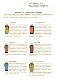 Therapie Öle Klassisch Spezial - SEVA Ayurveda