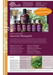 Ayurveda-Massageöle