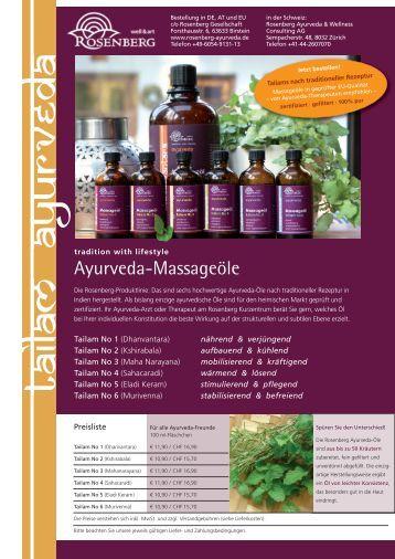 Ayurveda-Massageöle