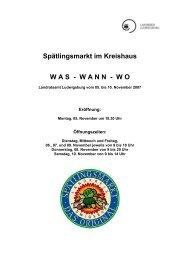Spätlingsmarkt im Kreishaus WAS - Landratsamt Ludwigsburg