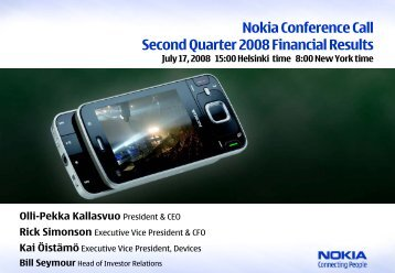 of net sales - Nokia
