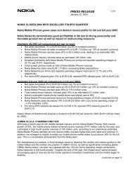 Statutory Release of Annual Accounts 2003 - Nokia