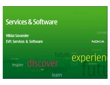 CMD presentations - Nokia