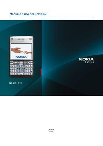 Manuale d'uso del Nokia E61i