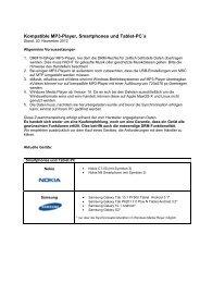 Kompatible MP3-Player, Smartphones und Tablet-PC´s - Onleihe
