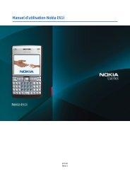 Manuel d'utilisation Nokia E61i