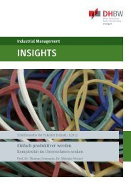 Industrial Management INSIGHTS Einfach ... - DHBW Stuttgart