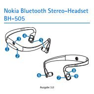 Nokia Bluetooth Stereo-Headset BH-505