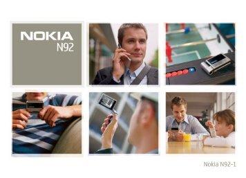 Das Nokia N92 - Download Instructions Manuals