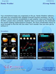 Handy Weather ZGroup Mobile - Get Mobile game