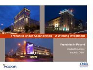 Franchise under Accor brands -; A Winning Investment