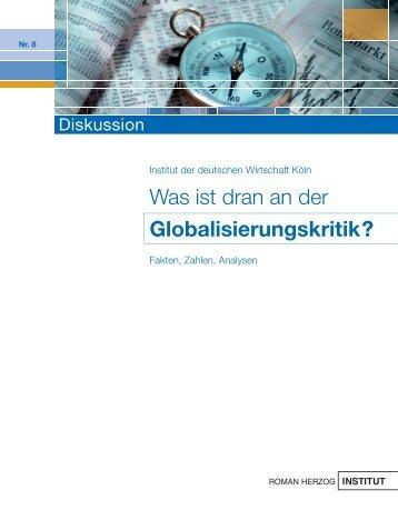 Was ist dran an der Globalisierungskritik? - Roman Herzog Institut