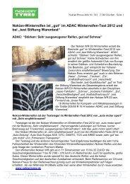 im ADAC Winterreifen-Test - Nokian Tyres