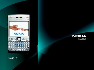 Nokia E61i E-mail support
