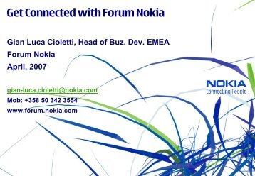 Get Connected with Forum Nokia